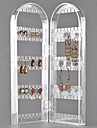 Exhibicion de la joyeria de plastico 120 hoyos 2 arcos transparente para los pendientes