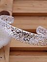 6cm de Mode féminine plaqué argent de laiton de bracelets de manchette (1 PC)