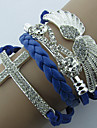Z&X®  Graceful Angel Wing Shape With Rhinestone Leather Wrap Bracelet(1 Pc)(More Color)