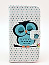 Sleeping Owl Pattern PU Leather with Soft Case and Card Slot for Samsung Galaxy S5 I9600