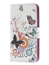 Vine and Butterflies Pattern PU Leather and Plastic Back Cover Full Body Case for Motorola MOTO G