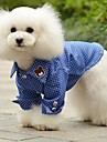Dog Shirt / T-Shirt / Shirt Blue Summer Jeans / Polka Dots