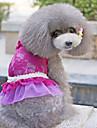 Собаки Платья Синий / Лиловый / Розовый Одежда для собак Лето Цветочные / ботанический