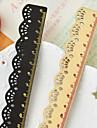 Κομψό Lace Σχεδιασμός Ξύλινο Χάρακας (15 cm)