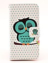 Sleeping Owl Moenster PU Leather vanskelig sak med Magnetic Snap og kortplass for Samsung Galaxy S4 mini I9190