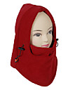 Unisex Outdoor Windproof Red Polar Fleece Cycling Mask