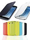 solide couleur bascule cas de portefeuille pour le i9300 de Samsung Galaxy (couleurs assorties)