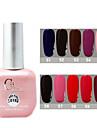 1PCS CH Soak-off Pink Bottle Solid Color UV Color Gel Polish NO.51-60(15ml,Assorted Color)