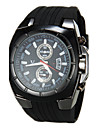 V6® Men\'s Military Style Black Dial Silicone Band Quartz Wrist Watch Cool Watch Unique Watch