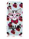 Flower and Cat Pattern Silicone Soft Case for iPhone5/5s