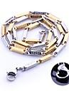 Collar de cadena personalizada del regalo del oro y de la plata del acero inoxidable de la joyeria Grabado 0.3cm Ancho