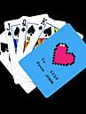 Персонализированные подарков Синий Сердце Pattern Playing Card для покера