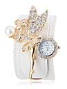 Ange en cristal de la femme Décor blanc PU bande de montre-bracelet modèle de la Bohême