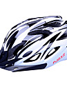 FJQXZ EPS+PC Black and White Integrally-molded Cycling Helmet(18 Vents)