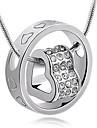 Ожерелье Ожерелья с подвесками Бижутерия Для вечеринок Повседневные В форме сердца Сердце Сплав Стразы Подарок