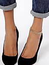 Shixin® Sweet Simple Fishbone Shape Chain  Women Gold Alloy Barefoot Sandals(27cm*2cm*2cm) (1 Pc)