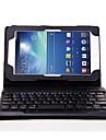 Destacavel Caso suporte de couro flip teclado Bluetooth para Samsung Galaxy Tab 3 Lite T110/T111