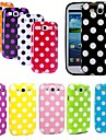 Elonbo J6F Fashion Lovely Wave Point tilbake tilfelle dekke for Samsung Galaxy S3 I9300