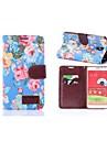 Цветочным узором всего тела кожаный чехол с карт памяти для Samsung Galaxy Note 3 Lite N750 / Neo N7505