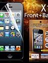 protection hd avant + arrière protecteur d'écran pour iphone 5/5s