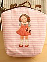Doll Pattern Canvas Change Purse(Pink)