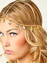 shixin® europeu folha borlas headbands de liga de ouro para as mulheres (1 pc)