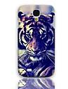 Tiger De olho Projeto Hard Case com protetores de tela de 3-Pack para Samsung Galaxy S4 mini-I9190