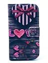 Love Heart  Pattern PU Leather Full Body Case with Stand and Card Holder for HTC Desire 500