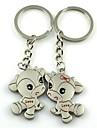 (2 PC) Beautiful Couple Keychain Moda Dallas High-Grade de aço inoxidável
