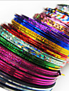 24PCS MiXs färg skiktning Tape Linje Nail Stripe Tape Nail Art Decoration klistermärken