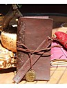 Винтаж кожа Ноутбук Блокнот с кожаной Ruler Bookmarks (Random Color)
