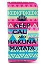 Capa de Couro Hakuna Matata Padrao PU com slot para cartao e suporte para Samsung Galaxy S4 mini-I9190