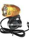 Cykellys Cykellys / Front Bike Light LED Vanntett / Genopladelig / Nedslags Resistent 1000 Lumens Batteri Cree XM-L T6 GuldCykling /