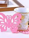 Butterfly Shaped Felt Cup Mat Coaster(3 PCS)