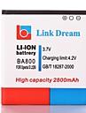 Link-Dream High Qualitaet 3.7V 2800mAh Handy-Akku fuer Sony Xperia Arc S LT26i HD-BA800 2800mAh (BA800)