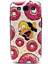 Casos Donut Anel Sugar padrao rigido de plastico para Samsung Galaxy S3 I9300