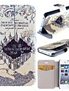 Marauder's Map Harry Potter Movie Series Pattern Clamshell PU Leather Full Body Case with Card Slot for iPhone 4/4S