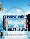 универсальный камуфляж компас водонепроницаемые мешки с повязкой и веревки для IPhone 4/4s/5/5c/5s (разных цветов)