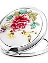 1 шт Портативный И Сложите металлокерамические Украсить Особенности косметическое зеркало