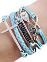 coruja pulseira cruz pulseira infinito diy melhores pulseiras de couro amigo
