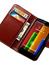 Vintage PU Leather Wallet Case for Motorola Moto G  with Card Slots