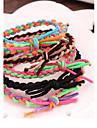 Sorts Couleur Tisses a la main elastique Collision bandes bracelet corde de cheveux assortis (couleur aleatoire)