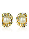 Stud Earrings Hoop Earrings Pearl Crystal Rhinestone Silver Plated Gold Plated Fashion Silver Golden Champagne Jewelry Party Daily Casual