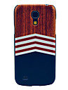 Wooden Triangle Printing Tribal Pattern Hard Back Cover Case for Samsung Galaxy S4 Mini I9190