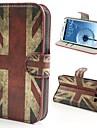 Pour Samsung Galaxy Coque Portefeuille Porte Carte Avec Support Clapet Motif Coque Coque Intégrale Coque Drapeau Cuir PU pour Samsung S3