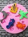 рыба дельфин краб выпечка помадка торт Choclate конфеты плесень, l6cm * w6cm * h0.9cm
