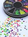 500шт микс цвета конфеты AB акриловая горный хрусталь колеса ногтей украшения