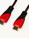 High Speed HDMI Kabel 1.4V support 3D til Smart LED HDTV, Apple TV, Blu-Ray DVD (1,5 m)
