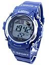 sportif bande de silicone numerique montre-bracelet des hommes