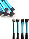 1PCS Light Blue Nylon Hair Aluminium Haandtak Makeup Blusher / Foundation / Powder Brush (Random type, 17x3x2cm)